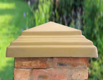 Sandstone - 20 inch Stepped Peak Pier Caps