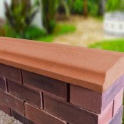 terracotta 10.5 inch twice weathered bevelled coping stones