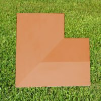 Terracotta-11 inch Twice Weathered Coping Stone Corner