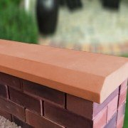 terracotta 13 inch chamfered coping stones
