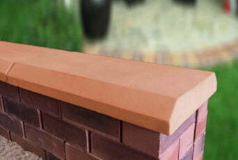 Terracotta 13 inch Chamfered Flat Coping