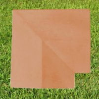 Terracotta-15 inch Twice Weathered Coping Stone Corner