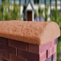 Terracotta 16inch Cottage Wall Coping