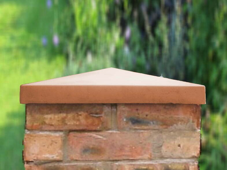 Terracotta 18 inch pillar caps