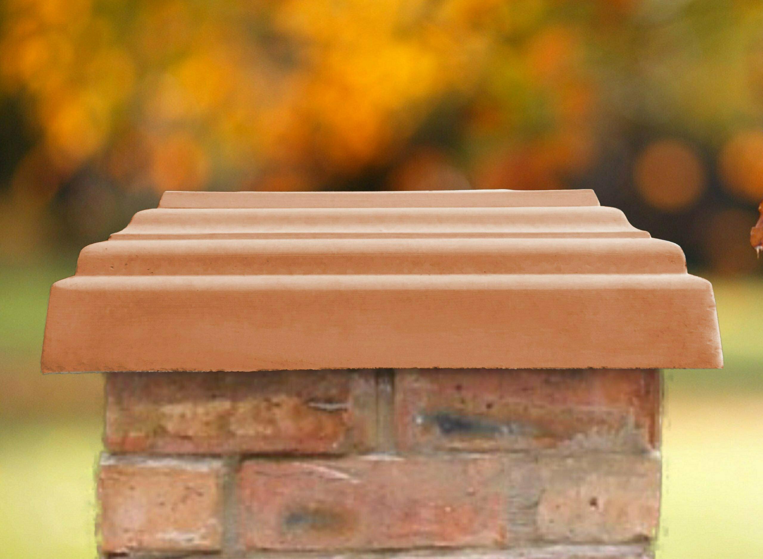 Terracotta 20 inch pillar caps