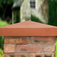 Terracotta-21 inch Traditional Pier Cap