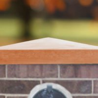 Terracotta-24 inch Traditional Pier Cap