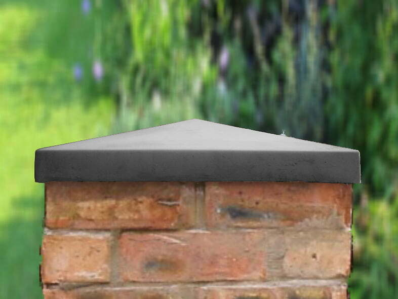 charcoal 18 inch Traditional Pier Cap