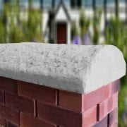 grey 16 inch cottage wall coping stones