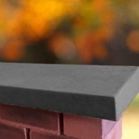 Charcoal 12 inch Wide Once Weathered Coping Stones