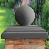 Charcoal-12 inch Ball(shown with 20inch stepped flat pier cap)