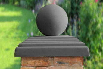 Charcoal 12 inch Ball(shown with 20inch stepped flat pier cap)