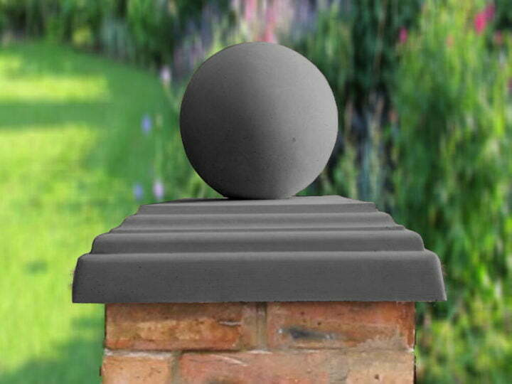 Charcoal 12 inch Sphere pier caps