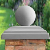 Grey-12 inch Ball(shown with 20inch stepped flat pier cap)