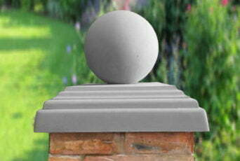 Grey 12 inch Ball(shown with 20inch stepped flat pier cap)