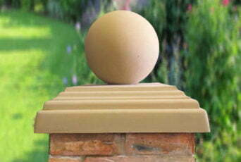 Sandstone 12 inch Ball(shown with 20inch stepped flat pier cap)