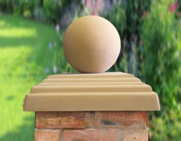 Sandstone-12 inch Ball(shown with 20inch stepped flat pier cap)