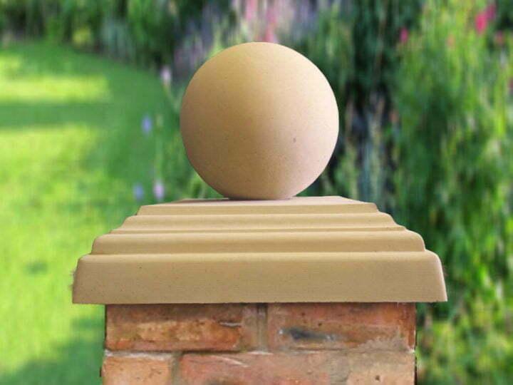 sandstone pier caps spheres