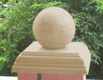 Sandstone Stepped Flat Pier Cap with Ball