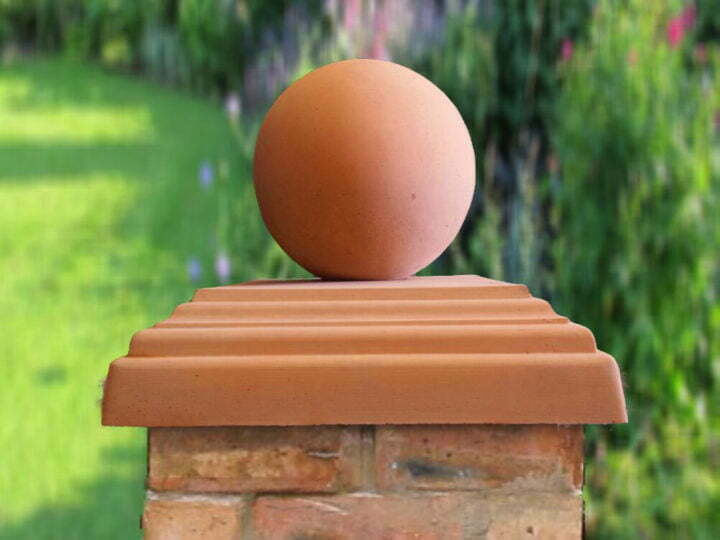 Terracotta 12 inch Ball pier caps