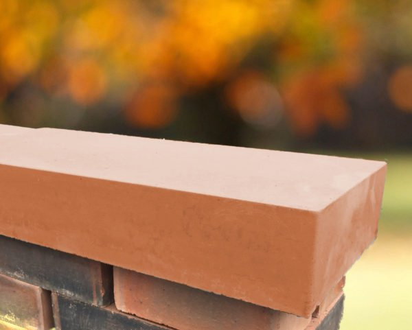terracotta 11 inch flat coping stones