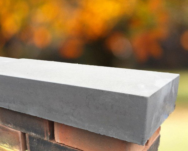 11 inch flat grey coping stones for walls