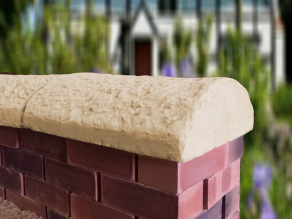 Sandstone 16 inch cottage wall copings